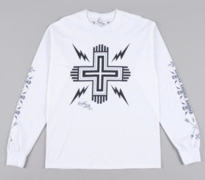 Cross' tee white with black.