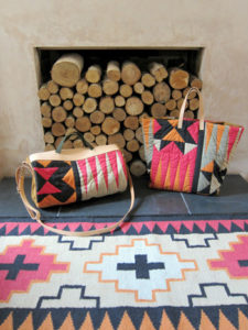 Elements' patchwork and bridle leather accessories, Peaks' runner also in picture.
