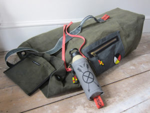 Reworked kit bag and Muroc' water canteen.