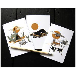 Desert and Plains trio of cards