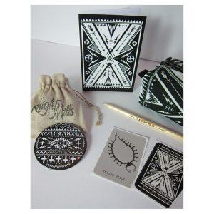 Piercing the No' pouch gift set (bone base)