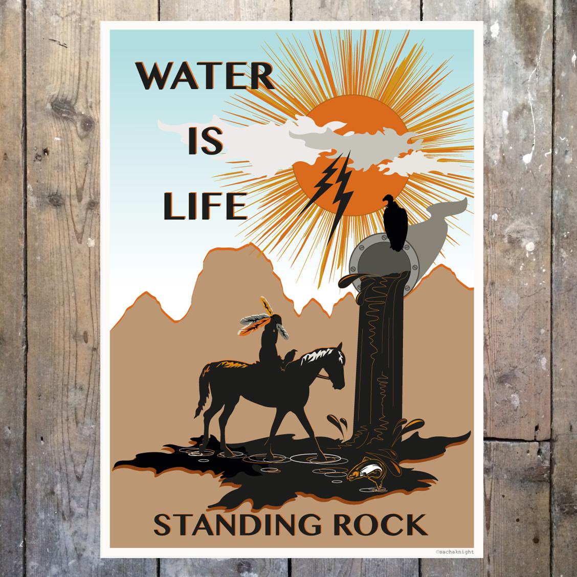 STANDING ROCK' art print